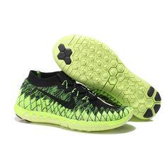 finest selection ba3c8 03a1e Nike-Free-3.0-Flyknit-Men s-Running-Shoe-Black-Fluorescent-Green
