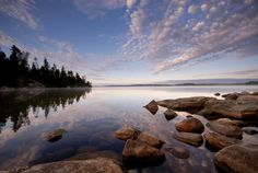 Sky Speaks To Water - photographer Peter Bowers