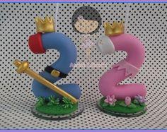 Vela personalizada Princesa e Príncipe