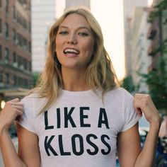 Karlie Kloss designed t-shirt