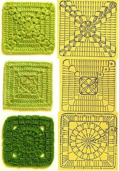 Transcendent Crochet a Solid Granny Square Ideas. Inconceivable Crochet a Solid Granny Square Ideas. Crochet Motifs, Granny Square Crochet Pattern, Crochet Blocks, Crochet Diagram, Crochet Chart, Crochet Squares, Crochet Stitches, Crochet Patterns, Granny Squares