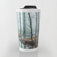 Travel Mug featuring Gather up Your Dreams by Olivia Joy StClaire dreamy forest coffee mug