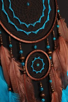 Brown Dreamcatcher turquoise Dream Catcher medium Dreamcatcher Dream сatcher idea dreamcatcher boho dreamcatchers wall handmade gift This amulet like Dreamcatcher - is not just a decoration of the interior. It is a powerful amulet, which is endowed with many properties: -