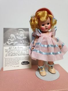 Vogue Ginny Doll with original box, clothes, 1950's Glad Ginny, beautiful doll
