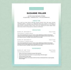 Cover Letter In A Resume Simple Chic Resume & Cover Letter Template  Clean Template Package .