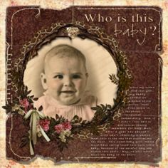 Who is this? Make heritage layouts about mystery photos.