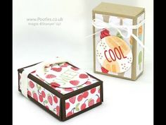 Stampin' Up! Demonstrator Pootles - 3 2 1 Box using Tasty Treats + Plus Technology Success!