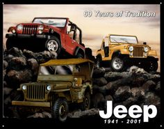 Jeep advertisements are known to show jeeps on different levels (heights) to show their offroad capabilities