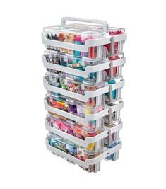 Deflecto Stackable Caddy Organizer - Clear, White Target item for Organizer Craft Room Storage, Office Organization, Medicine Organization, Bead Storage, Craft Rooms, Organization For Small Bedroom, Craft Room Organizing, Craft Storage Ideas For Small Spaces, Scrapbook Room Organization