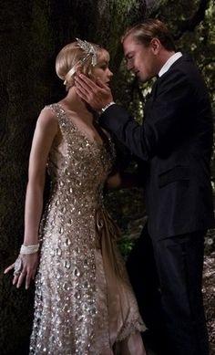 """A silhueta dos anos 20 do figurino de """"O Grande Gatsby"""" inspiram noivas                                                                                                                                                                                 Mais"""