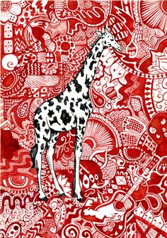 Giraffe by ~beaulivres   (Late) birthday present from my very talented boyfriend  Definitely going up in any future nest :)