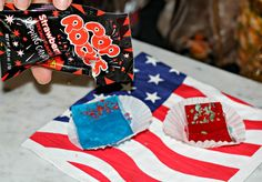 4th of july jello shots with pop rocks... like firecrackers in your mouth! so cool!
