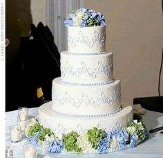 This is the look I'm after, but I think I want a pastel base icing.    /////// TheKnot.com - Search BETA