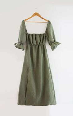 Linen Dress Pattern, Dress Sewing Patterns, Clothing Patterns, Easy Dress Pattern, Pattern Sewing, Sewing Clothes, Diy Clothes, Look Patches, Diy Vetement