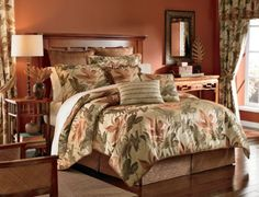 Croscill Home Fashions Bali 4-Piece Harvest Full Size Comforter Set by Crocsill. $224.99. Accentuate the ensembles golden-brown bed skirt in 100-percent polyester with coordinating bali euro shams and decorative pillow options. Complete the set with coordinating Bali pole-top lined draperies and tassel edged valance. Full set includes: 1 comforter,1 bed skirt and 2 standard shams. Bali comforter is 100-percent woven in a relaxing tropical palm print with a 65-percent polye...