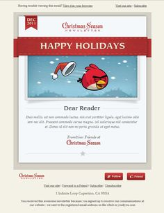 Wonderful Christmas  New Year Email Templates  Template