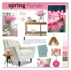 """Spring Florals-Home decor"" by cly88 ❤ liked on Polyvore featuring interior, interiors, interior design, home, home decor, interior decorating, Gerber, Pillow Decor, Flamant and Thrive"