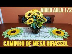 caminho de mesa girassol 3 - YouTube
