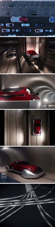The traffic in Los Angeles pushed Elon Musk to reinvent travel yet again. The basic plan is to convert the entire city's underground into a dizzying network of life-size Hot Wheels tracks that cross, overlap, merge, etc., covering each and every nook and corner of the city.