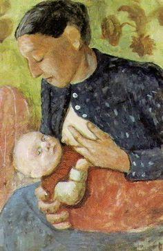 "New artwork made with love for you! - "" Breastfeeding Mother Of Paula Modersohn Becker 1902 Poster by ModersohnBecker Paula "" - https://ift.tt/2ymJIf8"