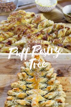 The secret to this Puff Pastry Christmas Tree? Homemade compound butter with rosemary, thyme, and bacon! Delicious holiday appetizer perfect for this Christmas! Recipes Appetizers And Snacks, Holiday Appetizers, Holiday Recipes, Snack Recipes, Cooking Recipes, Christmas Recipes, Savoury Recipes, Curry Recipes, Holiday Ideas