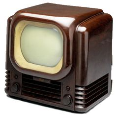 Famous inventions that changed the world, including the invention of the television, light bulb, telephone, radio and much more! Tvs, Vintage Television, Television Set, Vintage Tv, Portable Tv, Art Deco, Tv Sets, Retro Radios, Living Room Tv