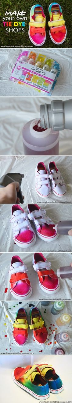 Make your own DIY Dyed Shoes... Color your World Of Shoes...!!!!