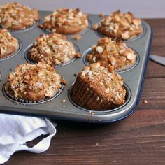 Banana and Macadamia Nut Muffins || www.turntablekitchen.com