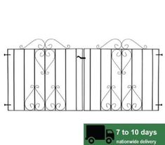 DW4: CLEARANCE: Ludlow Driveway Metal Gates. Fits opening 2m 100mm to 2m 180mm