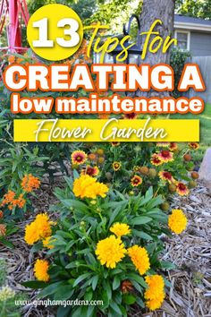 Would you love to have a flower garden, but don't have the time to care for one? Need to add some curb appeal to your home? Learn how to Create and Maintain a Low Maintenance Flower Garden, includes a list of the best low maintenance flowers. #flowergardenideas #lowmaintenanceperennials Flower Garden Plans, Flower Garden Design, Garden Borders, Garden Paths, Best Perennials, Garden Journal, Low Maintenance Garden, Annual Flowers, Small Gardens