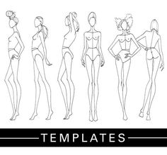 Practice your fashion illustrations with Fashion Finishing School Templates.