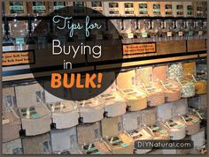 Buying in bulk is a great way to save money, as long as you store things properly and use it all up. Use these tips to get them most out of your bulk purchases!