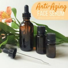 Easy 2-ingredient DIY Anti-Aging Face Serum with Essential Oil -- Love that the recipe can be customized for your skin type {normal, dry, acne, sensitive, oily, mature}