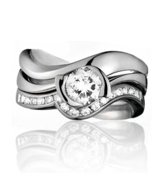 Panache platinum and diamond fitted wedding band and eternity ring by Simon Pure Jewellery in Guildford, Surrey