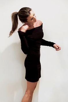 Every girl needs at least one little black dress in their closet and Eleanor's bardot bodycon pick is perfect for the sensual girl who loves to dress with confidence.