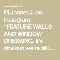 """M.Jannet.J. on Instagram: """"FEATURE WALLS AND WINDOW DRESSING. It's obvious we're all loving the upholstered wall panelling behind the bed. However from a practical…"""""""