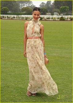Zoe Saldana, Just Jared #style #dress #fashion
