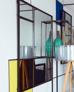 Faking A Bigger home with Crittall Mirrors - WeLoveHome - Home Window Pane Mirror, Mirror Wall Art, Metal Mirror, Metal Wall Art, Interior Design Advice, Interior Stylist, Crittall, My Dream Home, Collage