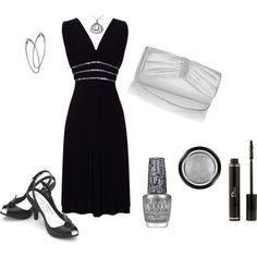 Little Black Cocktail Dress, created by glorya9605 on Polyvore