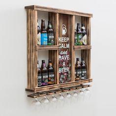 Wood Wine Racks, Wine Rack Wall, Home Wet Bar, Bars For Home, Garden Bar Shed, Basement Bar Plans, Wine Glass Shelf, Kitchen Bar Design, Pallet Wall Decor