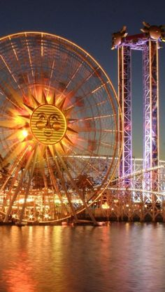 """This is an iPhone wallpaper labeled """"London Eye Ferris Wheel, London UK"""" Places Around The World, Around The Worlds, Uk Tourism, Ferris Wheels, Disney California Adventure, London Eye, Night Photography, Adventure Travel, Places To See"""