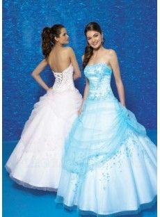 Unique Princess Strapless Beading Ball Gown Prom Dress - prom dresses 2012 long