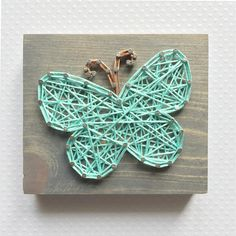 Why are all things so much cuter in miniature form?! This baby butterfly is no exception. This listing is for a made to order string art mini butterfly sign measuring approximately 4 x 3.5. Boards will be stained with our gray stain, as pictured above, unless otherwise requested.