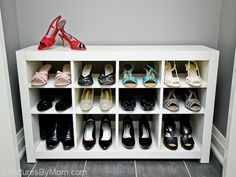 ikea hackers | IKEA HACK – How To Build A Shoe Rack From An IKEA EXPEDIT Shelving ...