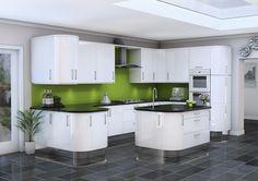 high gloss white kitchen - Google Search