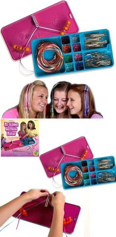Girls can make custom barrettes to wear, sell at craft fairs, take to slumber parties, and share with friends with this Barrette Maker kit. It's a lovely gift that she will love.   #girlribbon #girlbarrettes #barrettemaker #ribbonbarretesdiy #afflink