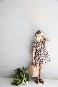 Sweet little girl floral dress