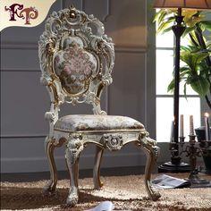 Cheap De estilo italiano de lujo sillas de comedor silla de madera maciza…
