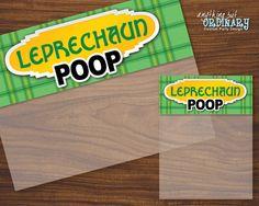 Leprechaun Poop St. Patricks Day Bag Toppers by ABOcustomDesign, $4.00
