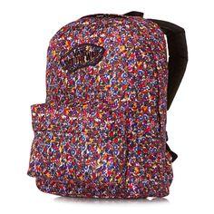Vans Womens Realm Ditsy Floral persian Jewel Backpack School Bag f944d32b04